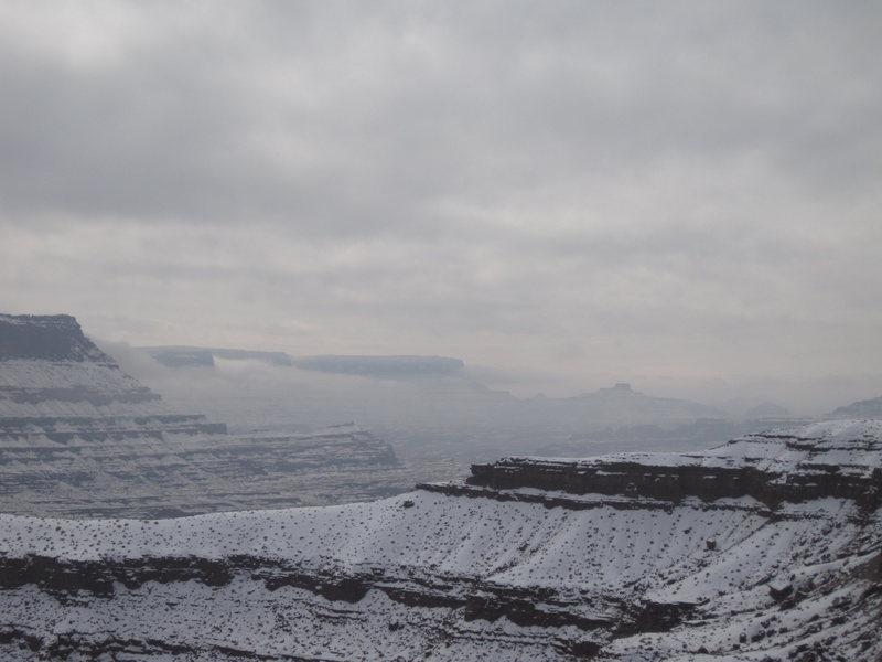 Rock Climbing Photo: winter in moab