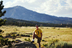 Rock Climbing Photo: Me in front of Laramie Peak