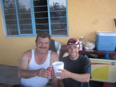 Rock Climbing Photo: havin' a sip with the patron saint of Northern Mex...