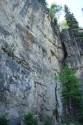 Rock Climbing Photo: The red rope is hanging on Princess, I Wanna Leaha...