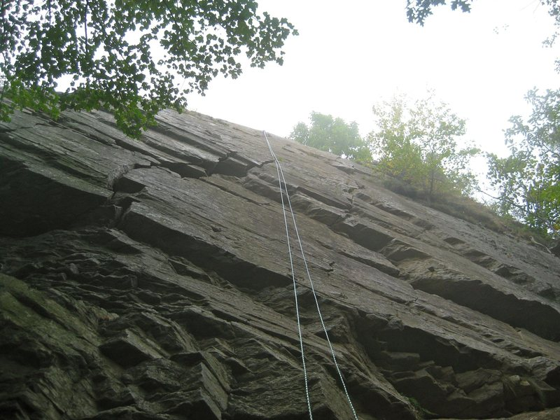 Rock Climbing Photo: Blairstown is the mondo crack just left of the rop...