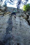 Rock Climbing Photo: Kyle Thompson flashing Black Rainbow.
