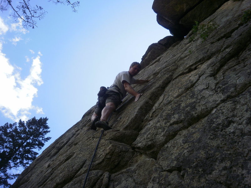 Rock Climbing Photo: Before the crux.