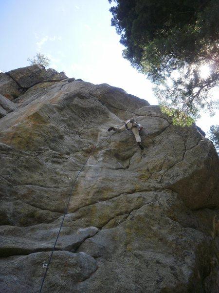 Rock Climbing Photo: Heading into the crux.