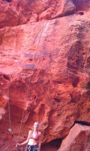 "Rock Climbing Photo: Quick picture of Ariel after ascending ""Unkno..."