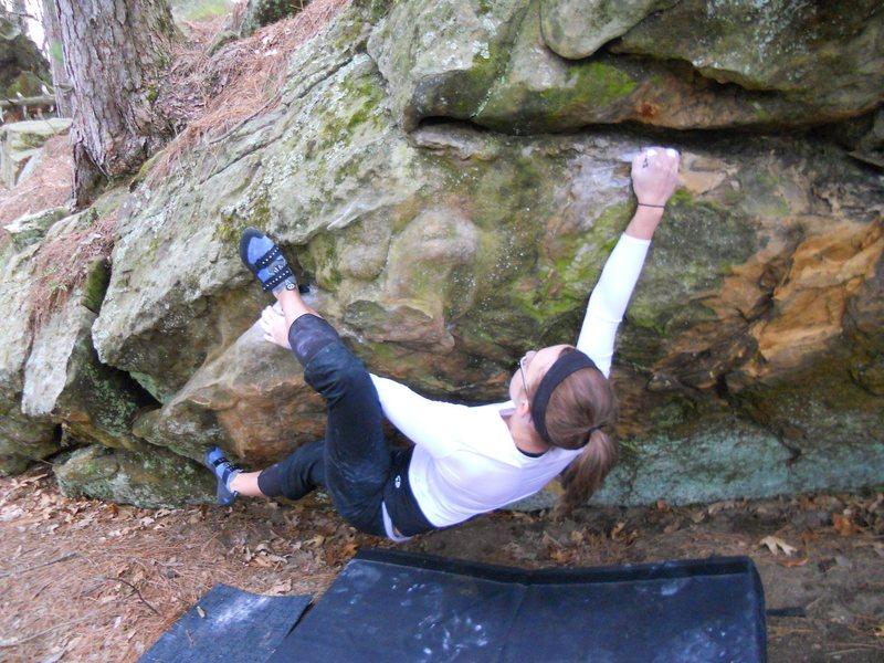 Rock Climbing Photo: Halla with good footwork Spring, 2011