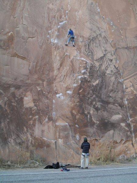 Rock Climbing Photo: Good shot of the line January, 2011