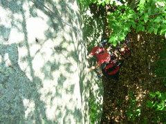Rock Climbing Photo: Joshua Corbett follows the route.