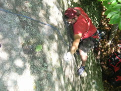Rock Climbing Photo: Approaching the thread.