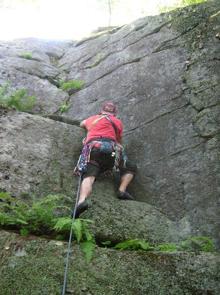 Rock Climbing Photo: Start of Corner Crack.