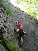 Rock Climbing Photo: Joshua Corbett leads Corner Crack.