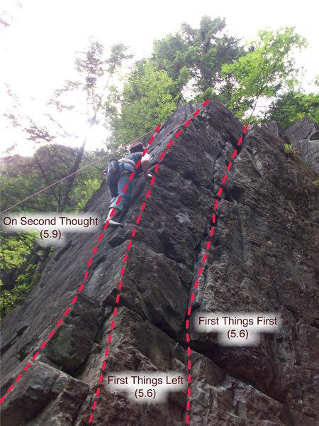 Rock Climbing Photo: Repo 1 routes