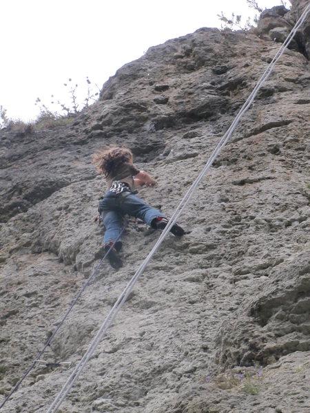 Rock Climbing Photo: 11 year old Moritz Welt crushing Optimist.