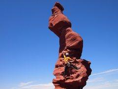 Rock Climbing Photo: Ancient Art's corkscrew summit