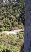 Rock Climbing Photo: A picture of a group climbing Satan's Corner while...