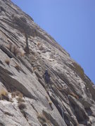 Rock Climbing Photo: Kenley Baraban on the 5th pitch.  The 6th pitch ro...