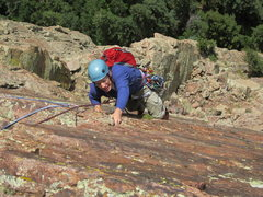 Rock Climbing Photo: Top of 5.8 var of 4th pitch