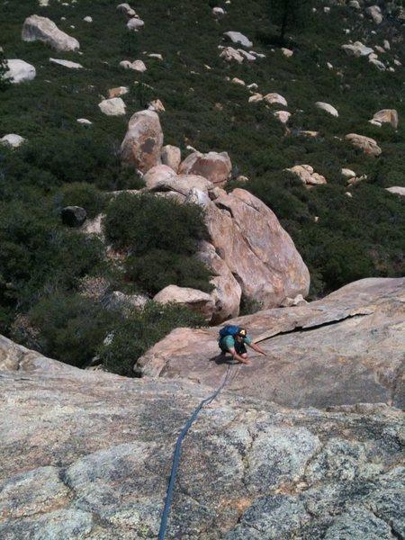 Rock Climbing Photo: DE on April Showers