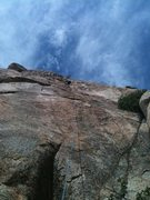 Rock Climbing Photo: DE on April Showers, El Nino Wall, Corte Madera