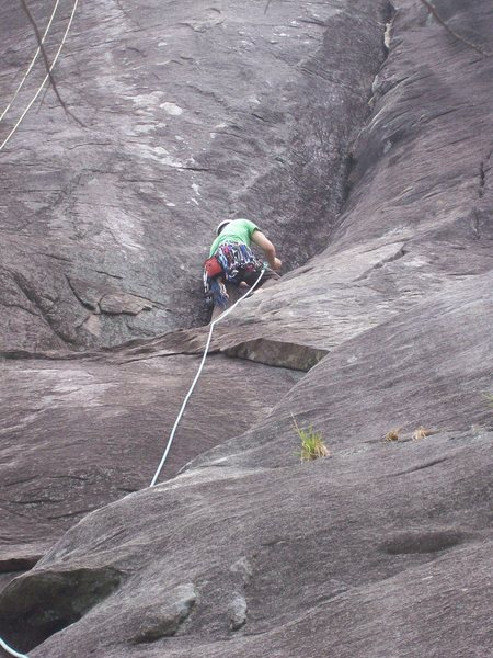 Rock Climbing Photo: Headed Up First Pitch of Second Coming.