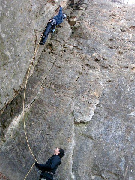 Rock Climbing Photo: Never climb in minnesota when the sun is going dow...