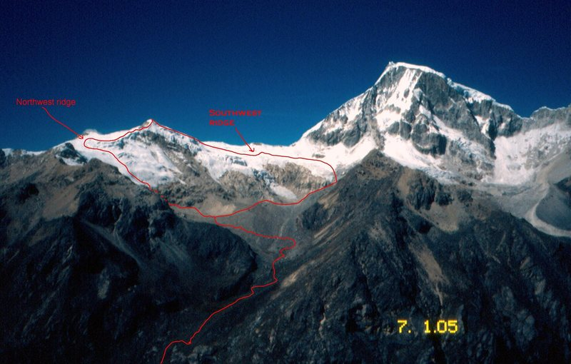Rock Climbing Photo: Northwest Ridge and Southwest Ridge routes