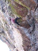 Rock Climbing Photo: Geir going horizontal.