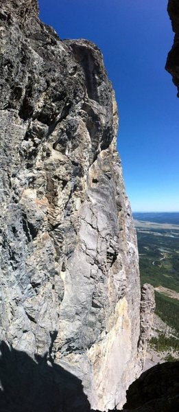 Rock Climbing Photo: View of The Toe pinnacle (bottom right) from the p...