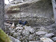 Rock Climbing Photo: through the crux, which could be convoluted becaus...