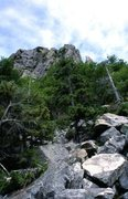 Rock Climbing Photo: The talus slope below the Eaglet.