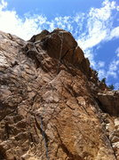 Rock Climbing Photo: The route tends to wander just a bit and is over v...