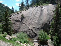 Rock Climbing Photo: Though unknown to most, there is a old route on th...