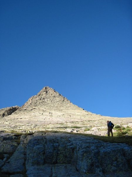 Rock Climbing Photo: Starting up Wham Ridge.