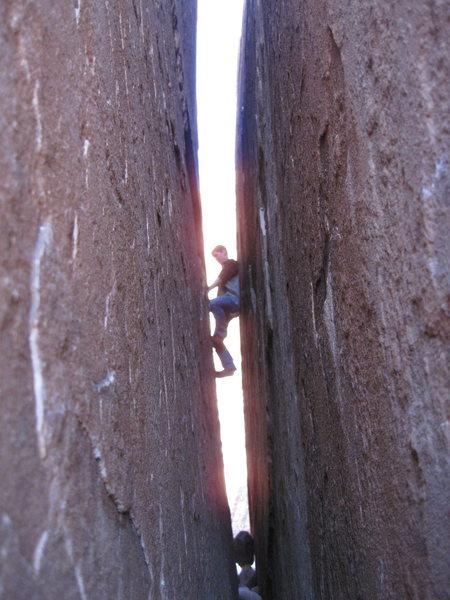 Rock Climbing Photo: Great chimney!