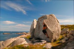 Rock Climbing Photo: Twin Sisters. Chebucto Head, Nova Scotia