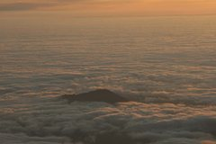 Rock Climbing Photo: The unkai (cloud sea) from the summit.