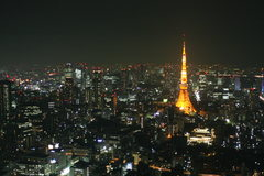 Rock Climbing Photo: A small portion of the world's biggest city.  Toky...