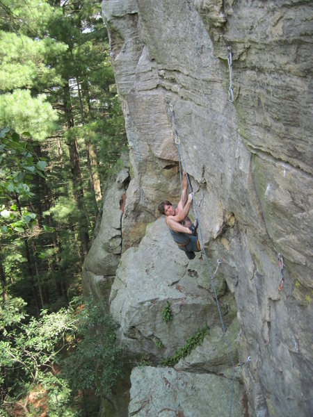 The crux foot placement.