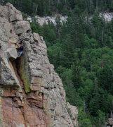 Rock Climbing Photo: The final run to the top.