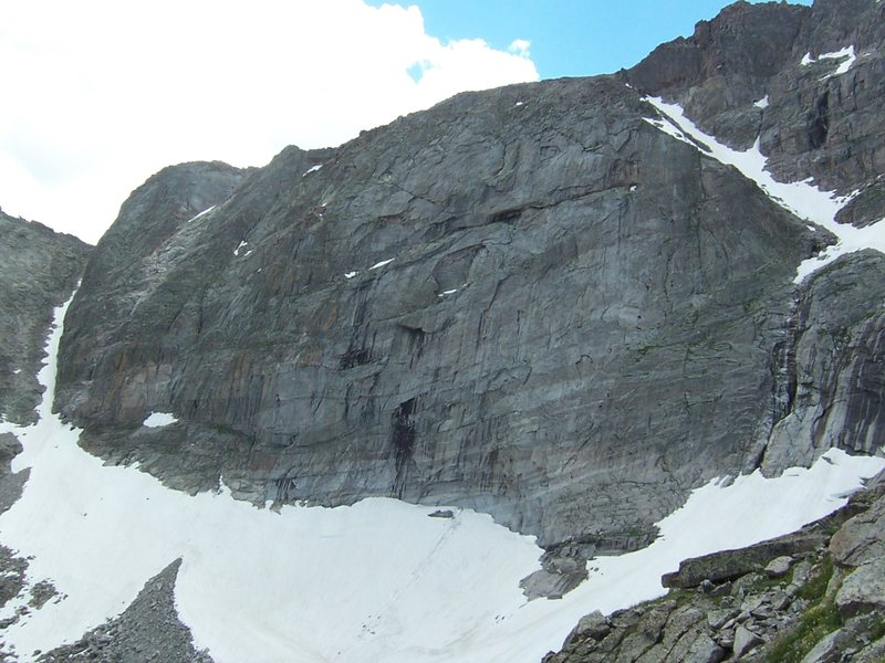 The NE face of Chiefshead from the descent on Spearhead....