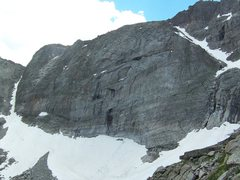 Rock Climbing Photo: The NE face of Chiefshead from the descent on Spea...