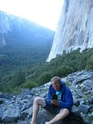 Rock Climbing Photo: Base of Zodiac,on El Capitan