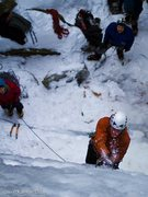 Rock Climbing Photo: Who says the south doesn't get ice? tearin' it up ...