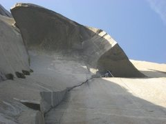 Rock Climbing Photo: The Great roof is easy...with aiders and fixed gea...
