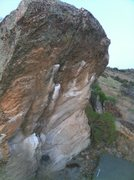 Rock Climbing Photo: The exciting Headstone Crack located below the gia...