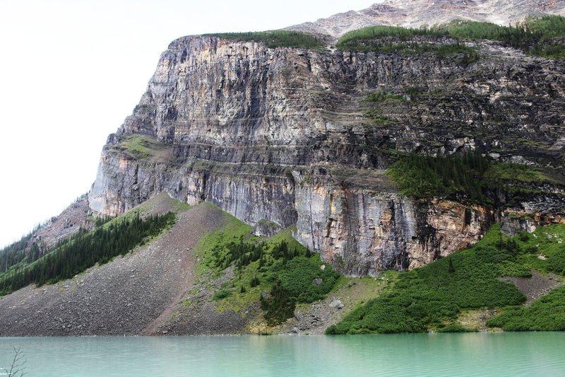 Rock Climbing Photo: Goblin Wall, from the End of the Lake.  The wall i...