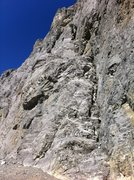 Rock Climbing Photo: The starting ramp to Unnamed (The Great Pumpkin ro...