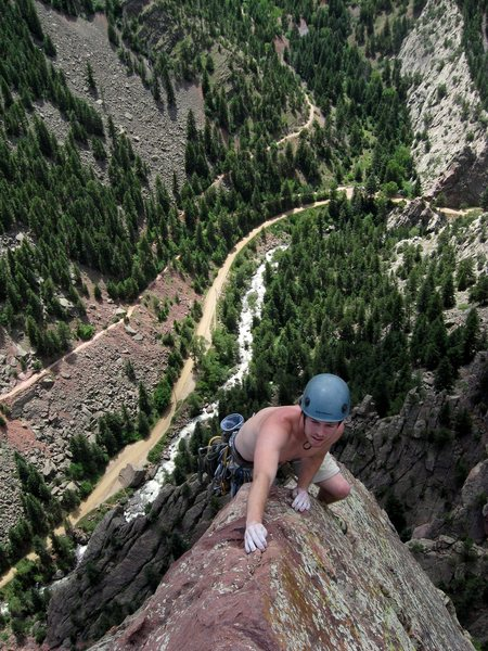 Rock Climbing Photo: Stylin' it