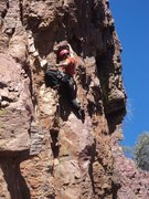 Rock Climbing Photo: Trying to redpoint The Ugly 11c; steeper than it l...