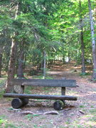 Rock Climbing Photo: This bench will be on the left of the path.